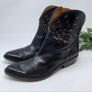 Nine West Vintage Black Point Toe Western Boot 7